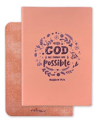 Exkluzív műbőr angol napló Istennel minden lehetséges (Flex Leather)