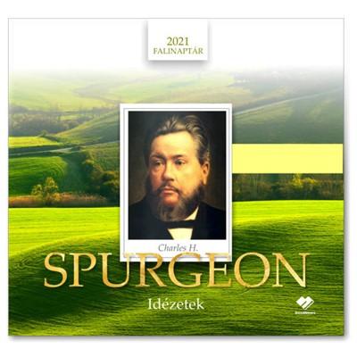 Közepes falinaptár 2021 Charles H. Spurgeon idézetek (Füzetkapcsolt)