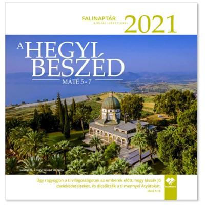 Nagyméretű falinaptár 2021 A Hegyi Beszéd (Füzetkapcsolt)