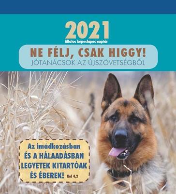 Képeslapos falinaptár 2021 Állatos naptár (Spirálozott)