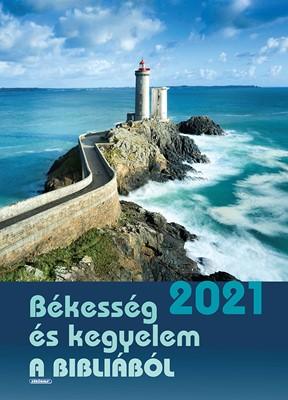 Nagyméretű falinaptár 2021 Békesség és kegyelem a Bibliából (Spirálozott)