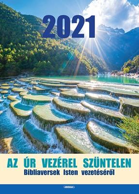 Nagyméretű falinaptár 2021 Az Úr vezérel szüntelen (Spirálozott)