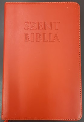 Károli Biblia, piros műbőr, aranyszegéllyel, regiszterrel (Papír) [Antikvár könyv]