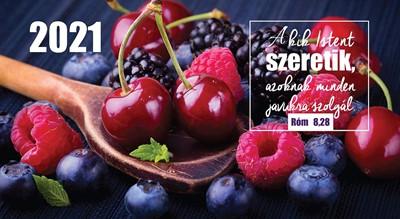 Zsebnaptár 2021 gyümölcs (Papír)
