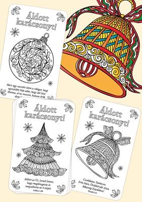 Karácsonyi színezős kártyák (Csomag)