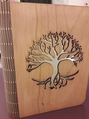Faborítású gyűrűs mappa fa (világosbarna) (Fa)