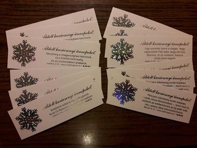 karácsonyi hologramos könyvjelzőcsomag (12 db) (Csomag)