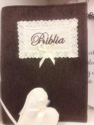 szövet borító közepes revideált új fordítású Bibliára sötétbarna (Szövet)