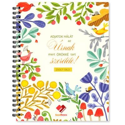 Jegyzetfüzet Adjatok hálát az Úrnak (Spirálozott)