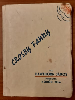 Crosby Fanny (Papír) [Antikvár könyv]