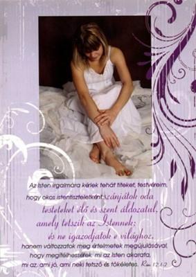 Képeslap-csomag Lány lila keretben