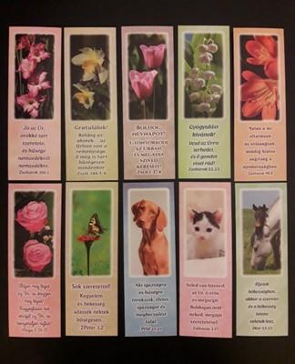 Könyvjelző-csomag állatok és virágok 1.
