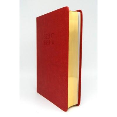 Biblia Károli fordítás közepes piros sima (Műbőr)