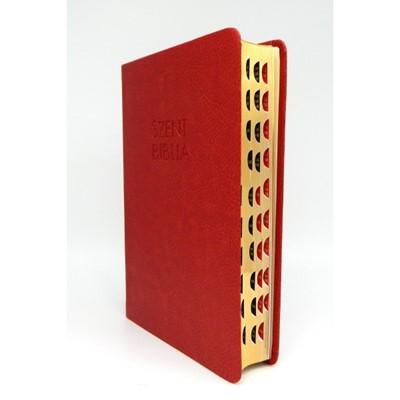 Biblia Károli fordítás közepes piros regiszterrel (Műbőr)