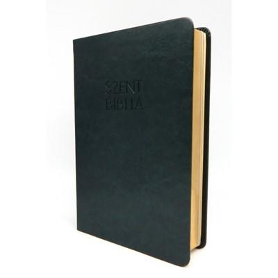 Biblia Károli fordítás közepes olajzöld sima (Műbőr)