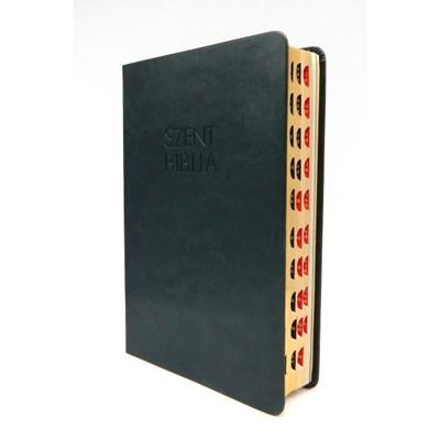 Biblia Károli fordítás közepes olajzöld regiszterrel (Műbőr)