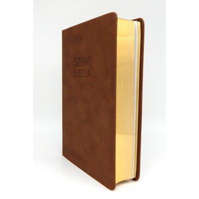 Biblia Károli fordítás közepes sötétbarna sima (Műbőr)