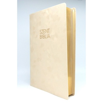 Biblia Károli nagy bézs bársony sima (Bársony)