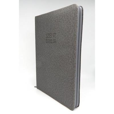 Biblia Károli nagy szürke regiszterrel, cipzárral (Műbőr)