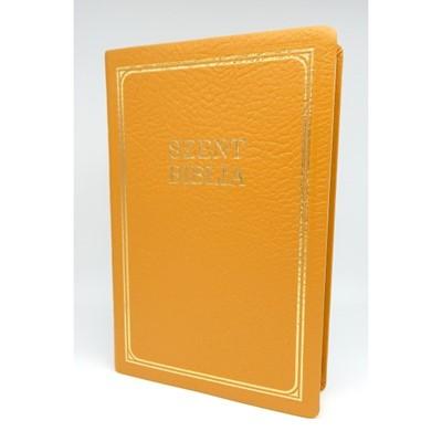 Biblia Károli nagy exkluzív mustársárga bőr (Bőr)