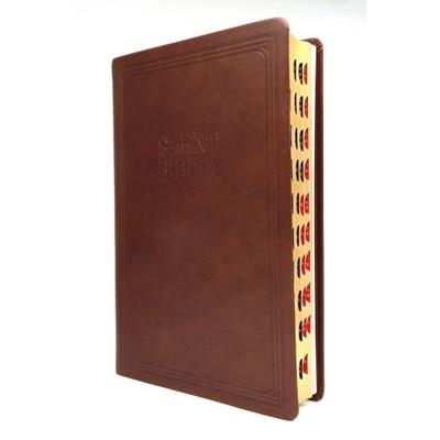 Biblia Károli nagy exkluzív barna bőr regiszteres (Bőr)