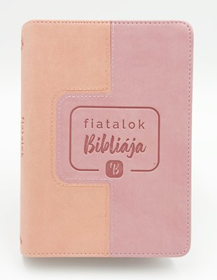 Fiatalok Bibliája - lila/rózsaszín (Műbőr)