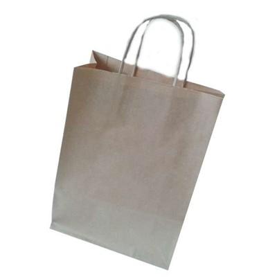 Sodrottfüles papírtáska közepes, barna (Papír)