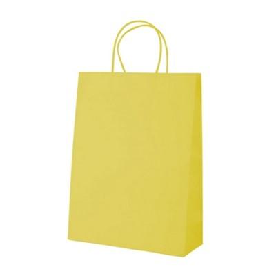 Sodrottfüles papírtáska közepes, sárga (Papír)