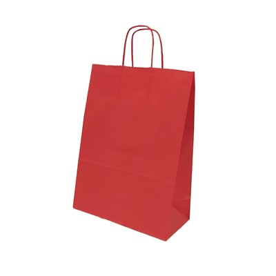 Sodrottfüles papírtáska nagy, piros (Papír)