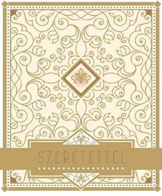 Közepes méretű dísztáska Szeretettel arany (Papír)