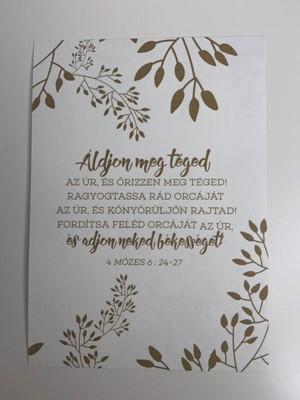 Miniposzter Ároni áldás (Kreatív papír)
