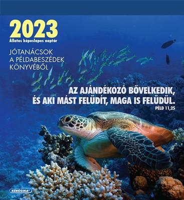 Képeslapos falinaptár 2022 Állatos naptár (Spirálozott)