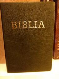 Biblia revideált új fordítás, közepes, bőrkötéssel, aranyszegéllyel, barna