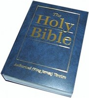 Angol Biblia King James Version Royal Ruby Text Bible - Navy (vinyl covered paperback / puhakötés)