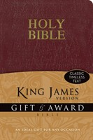 Angol Biblia King James Version Gift and Award Bible - Burgundy (leather look paperback / puhakötés)