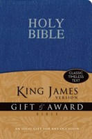 Angol Biblia King James Version Gift and Award Bible - Blue