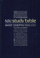 Angol Biblia New International Version Study Bible, Hardback, Navy (Hardback / Keménytáblás)