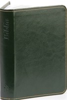 Biblia revideált Károli nagy exkluzív (sötétzöld) (díszvarrott műbőr ezüst vagy arany szegéllyel)