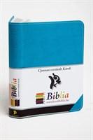 Biblia revideált Károli kicsi díszvarrott (türkiz) (díszvarrott műbőr)