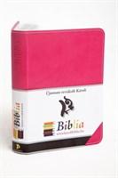 Biblia revideált Károli nagy díszvarrott (ciklámen) (díszvarrott műbőr)
