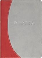 Biblia revideált új fordítás, közepes, műbőr, szürke-bordó (Műbőr)