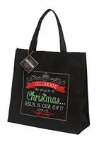 Karácsonyi vászontáska Celebrate the Miracle of Christmas...