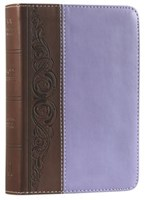 Angol Biblia King James Version Large Print Compact Bible Brown/Purple LeatherTouch Imitation Leather