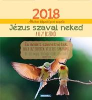 Képeslapos falinaptár 2018 Jézus szavai neked a Hegyi Beszédből
