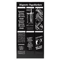 Mágneses könyvjelzőcsomag fekete-fehér Footprints