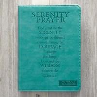 Exkluzív műbőr angol napló Serenity Prayer