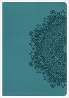 Angol Biblia New King James Version Giant Print Reference Bible Teal (Leathertouch)