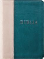 Biblia revideált új fordítás, közepes, műbőr, sötétzöld-szürke (Műbőr)