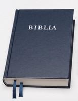 Biblia revideált új fordítás, közép, keménytáblás, vászon, kék