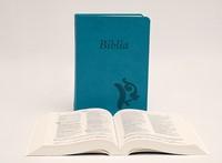 Biblia revideált Károli középméretű, türkiz (Műbőr)